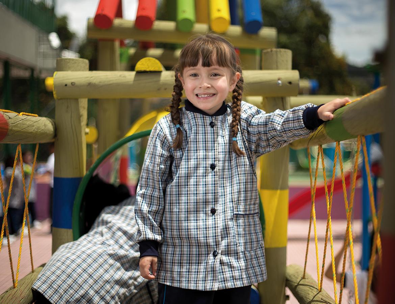 Estudiante en jardín infantil