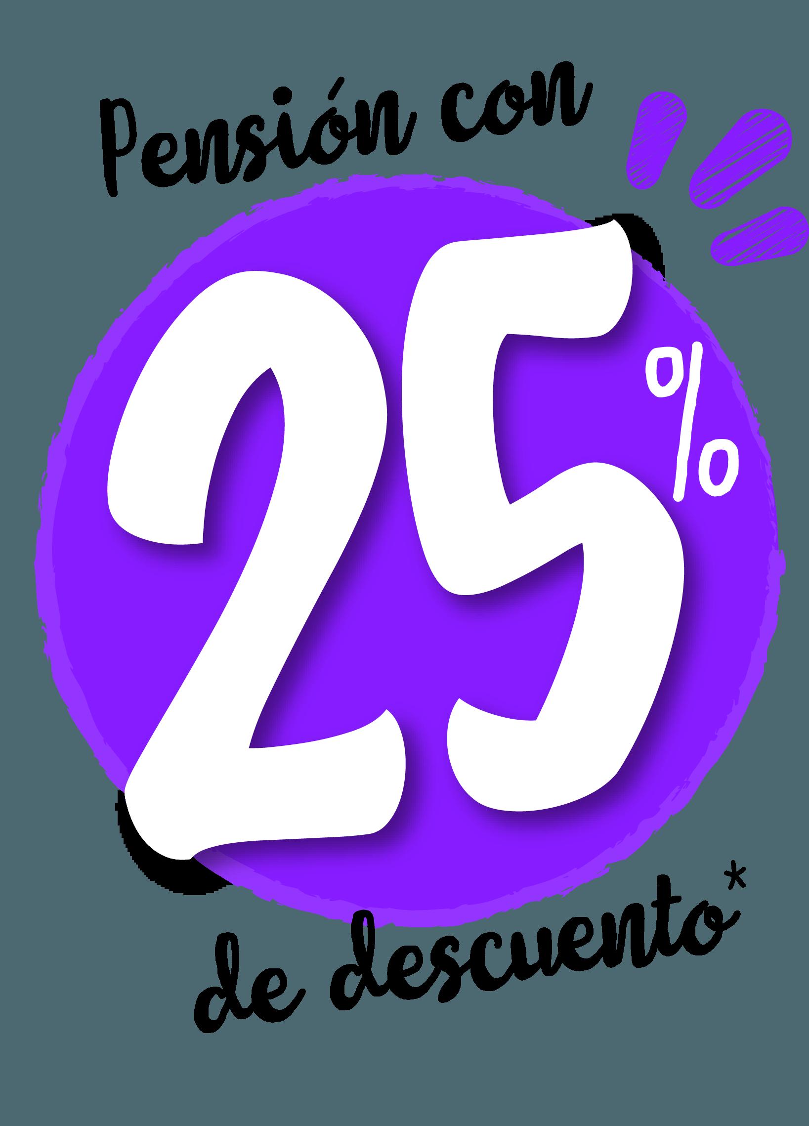 Pensión con 50% de descuento